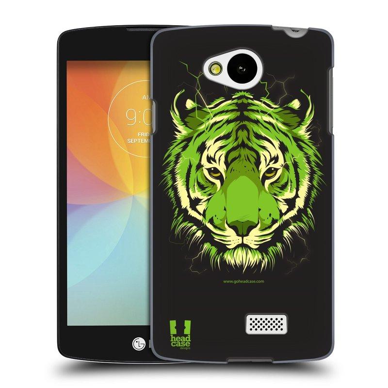 Plastové pouzdro na mobil LG F60 HEAD CASE BENGÁLSKÝ TYGR (Kryt či obal na mobilní telefon LG F60 D390n)