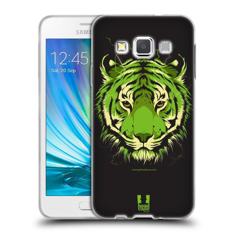 Silikonové pouzdro na mobil Samsung Galaxy A3 HEAD CASE BENGÁLSKÝ TYGR (Silikonový kryt či obal na mobilní telefon Samsung Galaxy A3 SM-A300)