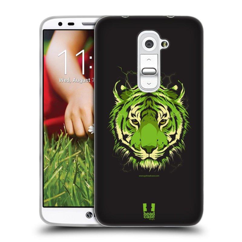 Silikonové pouzdro na mobil LG G2 HEAD CASE BENGÁLSKÝ TYGR (Silikonový kryt či obal na mobilní telefon LG G2 D802)