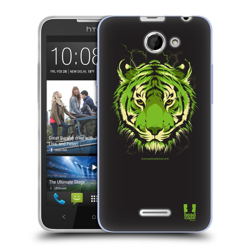 Silikonové pouzdro na mobil HTC Desire 516 HEAD CASE BENGÁLSKÝ TYGR (Silikonový kryt či obal na mobilní telefon HTC Desire 516 Dual SIM)