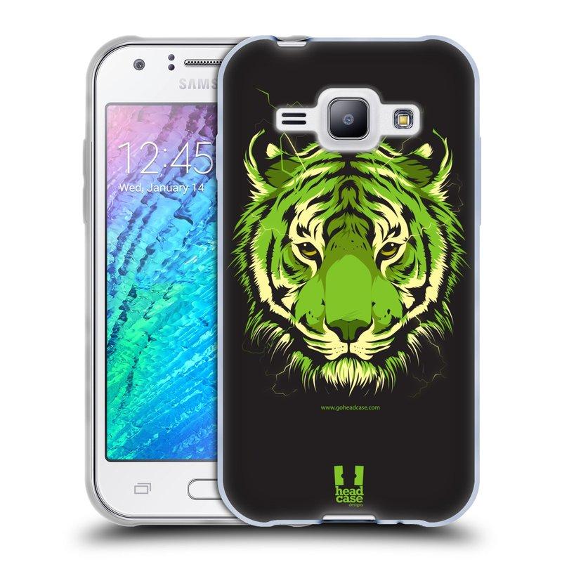 Silikonové pouzdro na mobil Samsung Galaxy J1 HEAD CASE BENGÁLSKÝ TYGR (Silikonový kryt či obal na mobilní telefon Samsung Galaxy J1 a J1 Duos)