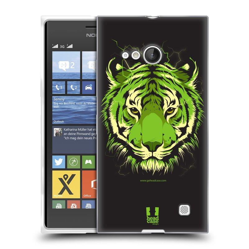 Silikonové pouzdro na mobil Nokia Lumia 730 Dual SIM HEAD CASE BENGÁLSKÝ TYGR (Silikonový kryt či obal na mobilní telefon Nokia Lumia 730 Dual SIM)