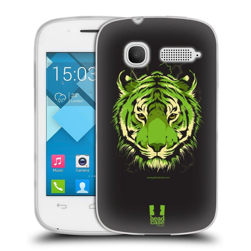 Silikonové pouzdro na mobil Alcatel One Touch Pop C1 HEAD CASE BENGÁLSKÝ TYGR (Silikonový kryt či obal na mobilní telefon Alcatel OT-4015D POP C1)