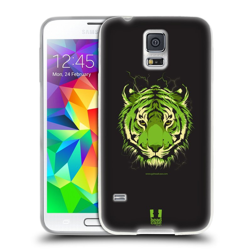 Silikonové pouzdro na mobil Samsung Galaxy S5 HEAD CASE BENGÁLSKÝ TYGR (Silikonový kryt či obal na mobilní telefon Samsung Galaxy S5 SM-G900F)