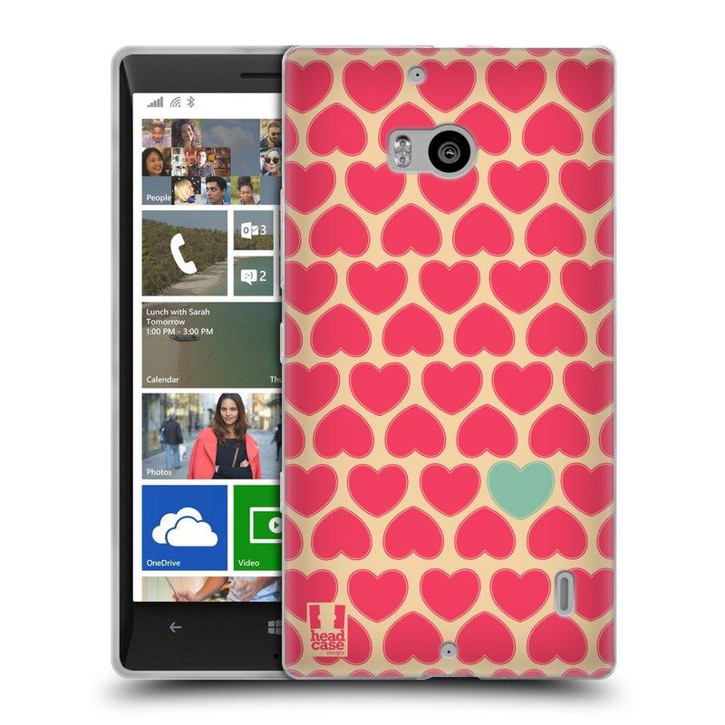 Silikonové pouzdro na mobil Nokia Lumia 930 HEAD CASE SRDÍČKA RŮŽOVÁ (Silikonový kryt či obal na mobilní telefon Nokia Lumia 930)