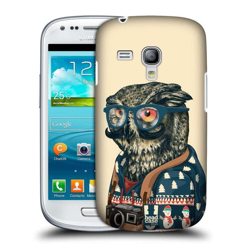 Plastové pouzdro na mobil Samsung Galaxy S3 Mini VE HEAD CASE HIPSTR SVETR SOVA (Kryt či obal na mobilní telefon Samsung Galaxy S3 Mini VE GT-i8200)
