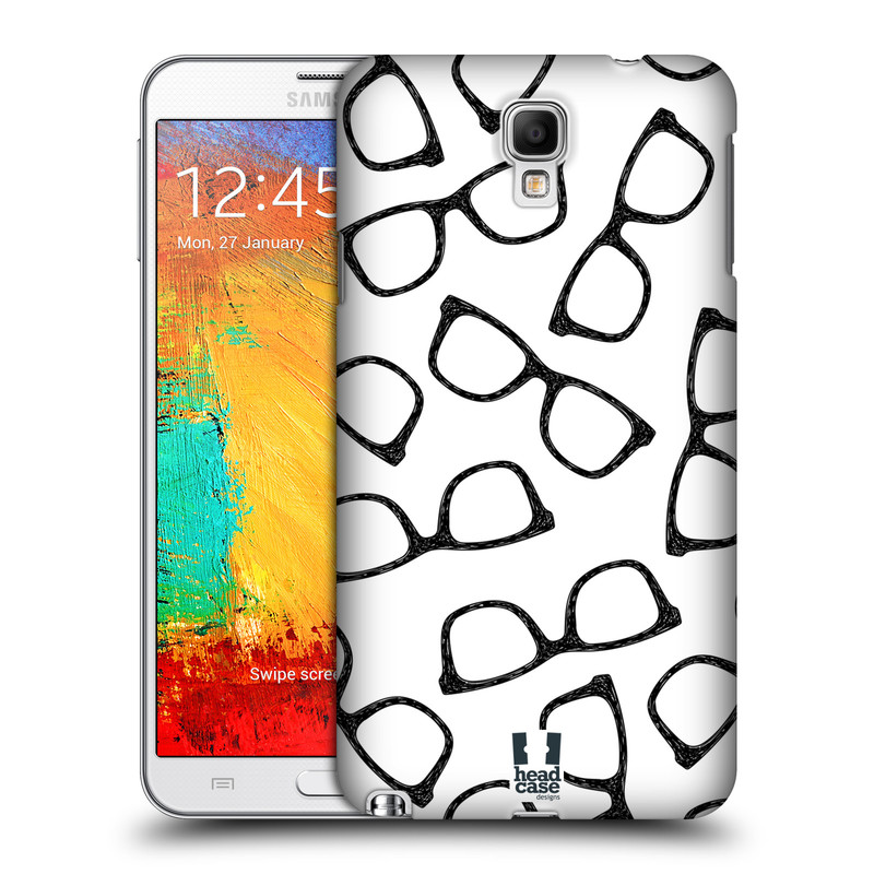 Plastové pouzdro na mobil Samsung Galaxy Note 3 Neo HEAD CASE HIPSTER BRÝLE (Kryt či obal na mobilní telefon Samsung Galaxy Note 3 Neo SM-N7505)