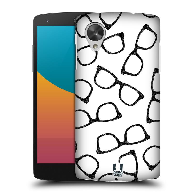 Plastové pouzdro na mobil LG Nexus 5 HEAD CASE HIPSTER BRÝLE (Kryt či obal na mobilní telefon LG Google Nexus 5 D821)