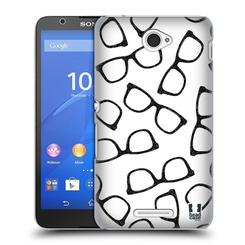 Plastové pouzdro na mobil Sony Xperia E4 E2105 HEAD CASE HIPSTER BRÝLE (Kryt či obal na mobilní telefon Sony Xperia E4 a E4 Dual SIM)