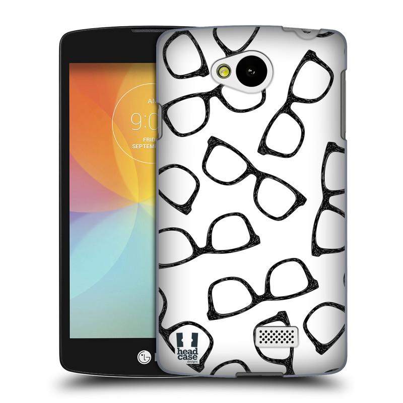 Plastové pouzdro na mobil LG F60 HEAD CASE HIPSTER BRÝLE (Kryt či obal na mobilní telefon LG F60 D390n)