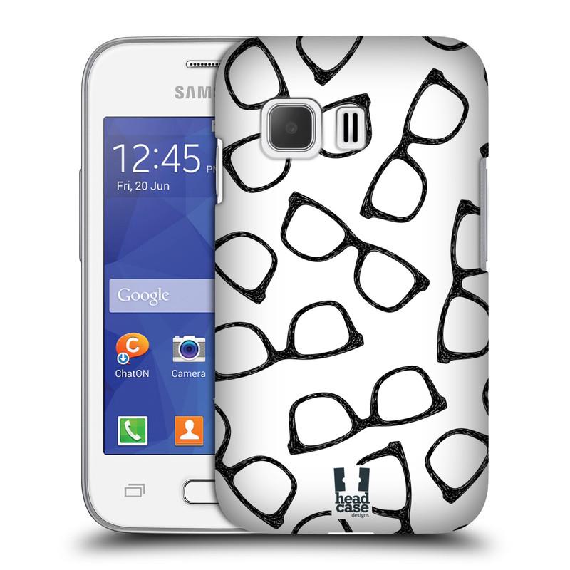 Plastové pouzdro na mobil Samsung Galaxy Young 2 HEAD CASE HIPSTER BRÝLE (Kryt či obal na mobilní telefon Samsung Galaxy Young 2 SM-G130)