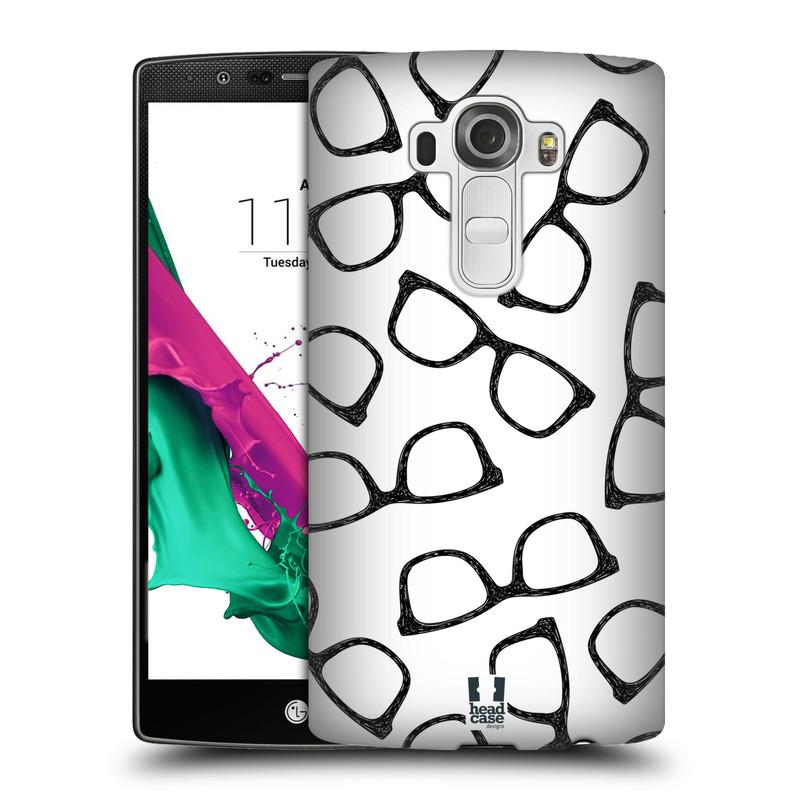 Plastové pouzdro na mobil LG G4 HEAD CASE HIPSTER BRÝLE (Kryt či obal na mobilní telefon LG G4 H815)