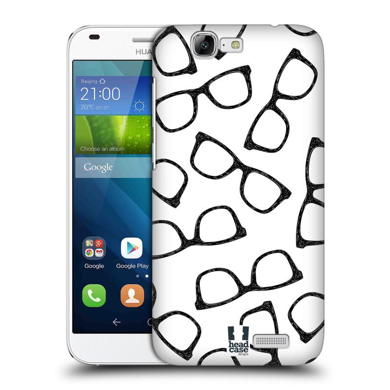 Plastové pouzdro na mobil Huawei Ascend G7 HEAD CASE HIPSTER BRÝLE (Kryt či obal na mobilní telefon Huawei Ascend G7)