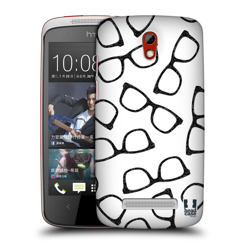 Plastové pouzdro na mobil HTC Desire 500 HEAD CASE HIPSTER BRÝLE (Kryt či obal na mobilní telefon HTC Desire 500)