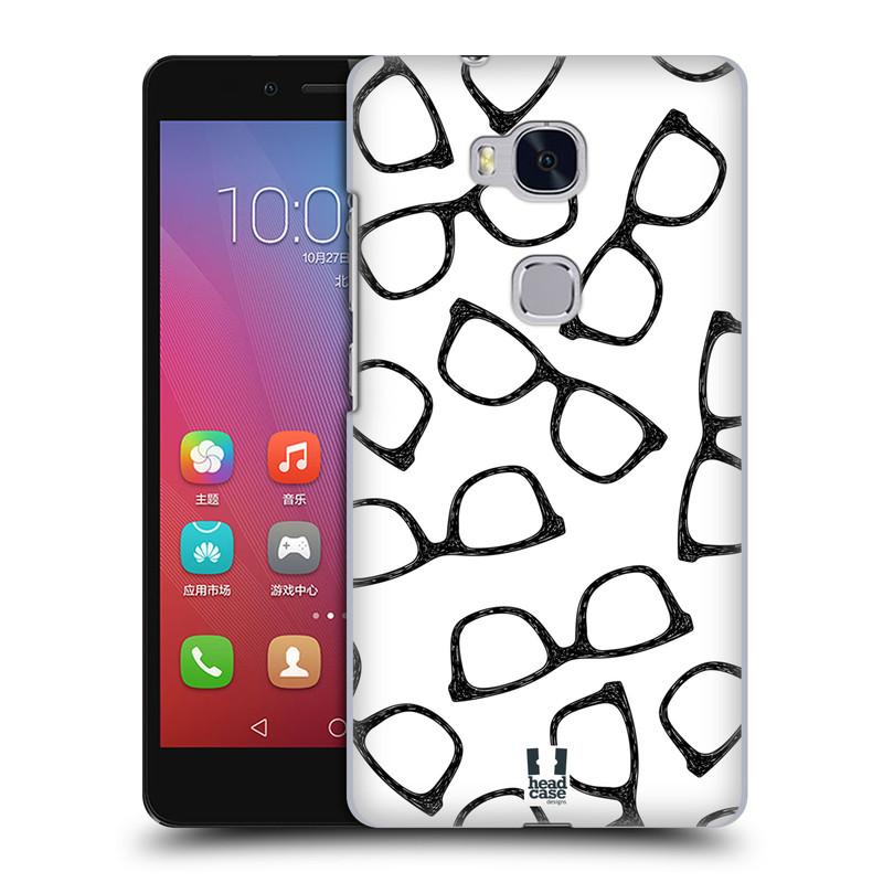 Plastové pouzdro na mobil Honor 5X HEAD CASE HIPSTER BRÝLE (Kryt či obal na mobilní telefon Huawei Honor 5X)