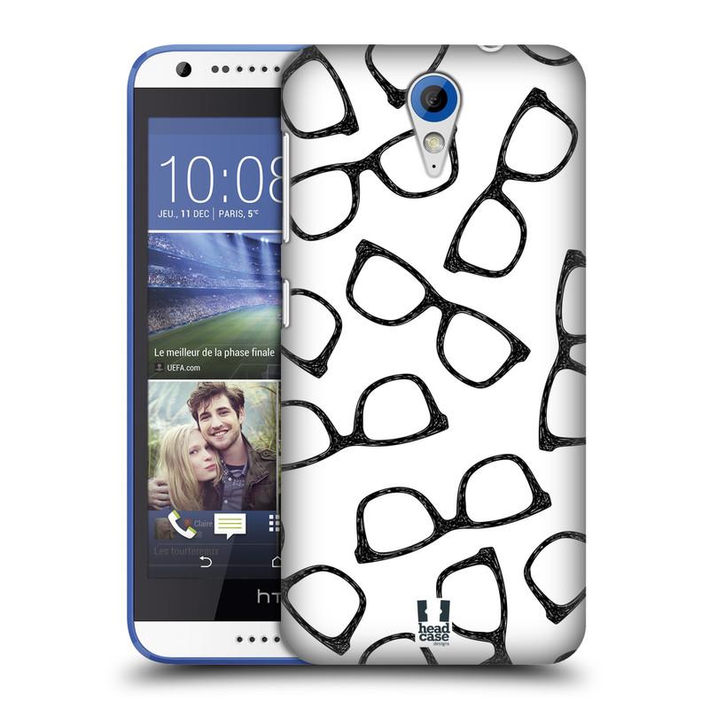 Plastové pouzdro na mobil HTC Desire 620 HEAD CASE HIPSTER BRÝLE (Kryt či obal na mobilní telefon HTC Desire 620)