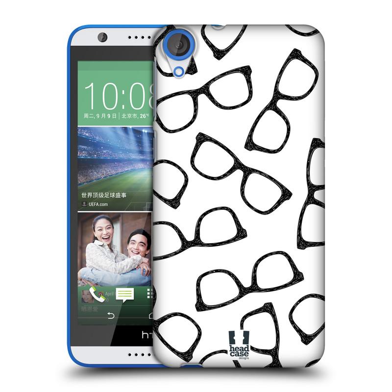 Plastové pouzdro na mobil HTC Desire 820 HEAD CASE HIPSTER BRÝLE (Kryt či obal na mobilní telefon HTC Desire 820)