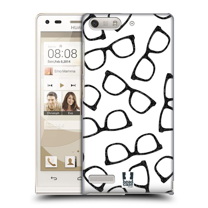 Plastové pouzdro na mobil Huawei Ascend G6 HEAD CASE HIPSTER BRÝLE (Kryt či obal na mobilní telefon Huawei Ascend G6 bez LTE)
