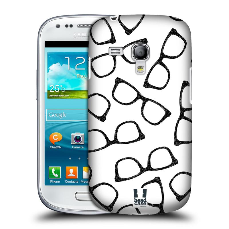 Plastové pouzdro na mobil Samsung Galaxy S III Mini HEAD CASE HIPSTER BRÝLE (Kryt či obal na mobilní telefon Samsung Galaxy S III Mini GT-i8190)