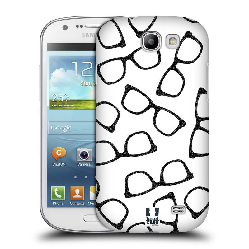 Plastové pouzdro na mobil Samsung Galaxy Express HEAD CASE HIPSTER BRÝLE (Kryt či obal na mobilní telefon Samsung Galaxy Express GT-i8730)