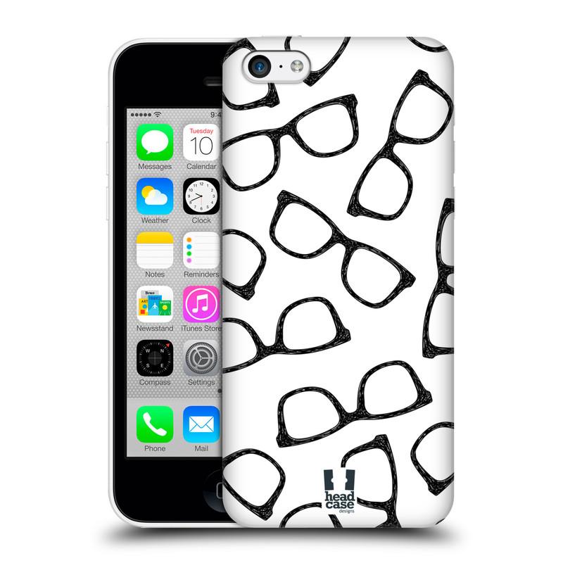 Plastové pouzdro na mobil Apple iPhone 5C HEAD CASE HIPSTER BRÝLE (Kryt či obal na mobilní telefon Apple iPhone 5C)
