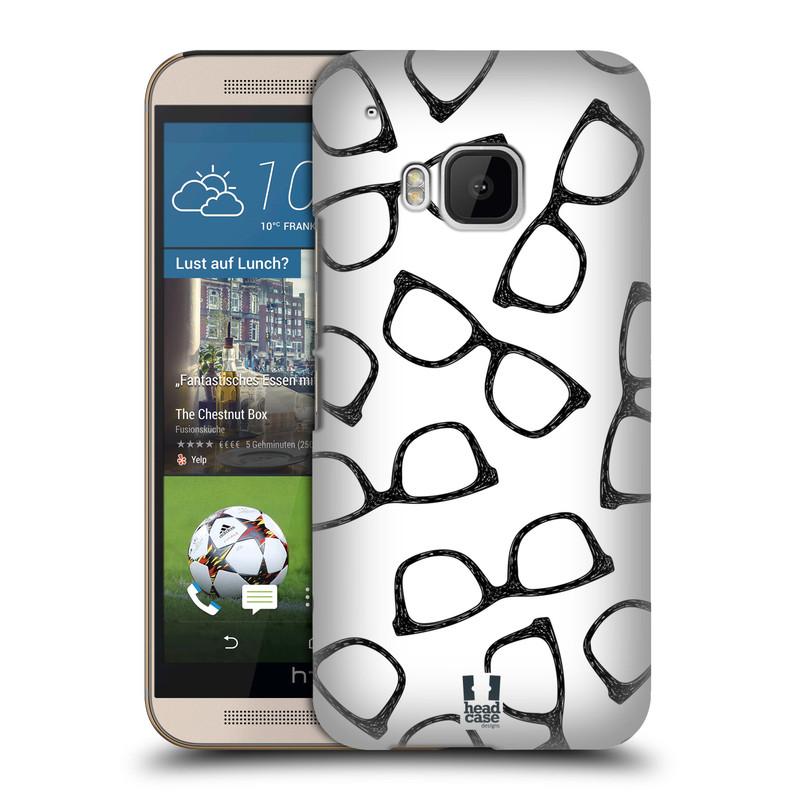 Plastové pouzdro na mobil HTC ONE M9 HEAD CASE HIPSTER BRÝLE (Kryt či obal na mobilní telefon HTC ONE M9)