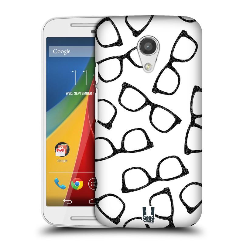 Plastové pouzdro na mobil Motorola Moto G 2ND GENERATION HEAD CASE HIPSTER BRÝLE (Kryt či obal na mobilní telefon Motorola Moto G 2. Generace)