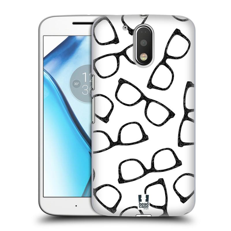 Plastové pouzdro na mobil Lenovo Moto G4 HEAD CASE HIPSTER BRÝLE (Plastový kryt či obal na mobilní telefon Lenovo Moto G4 (Single a Dual SIM))