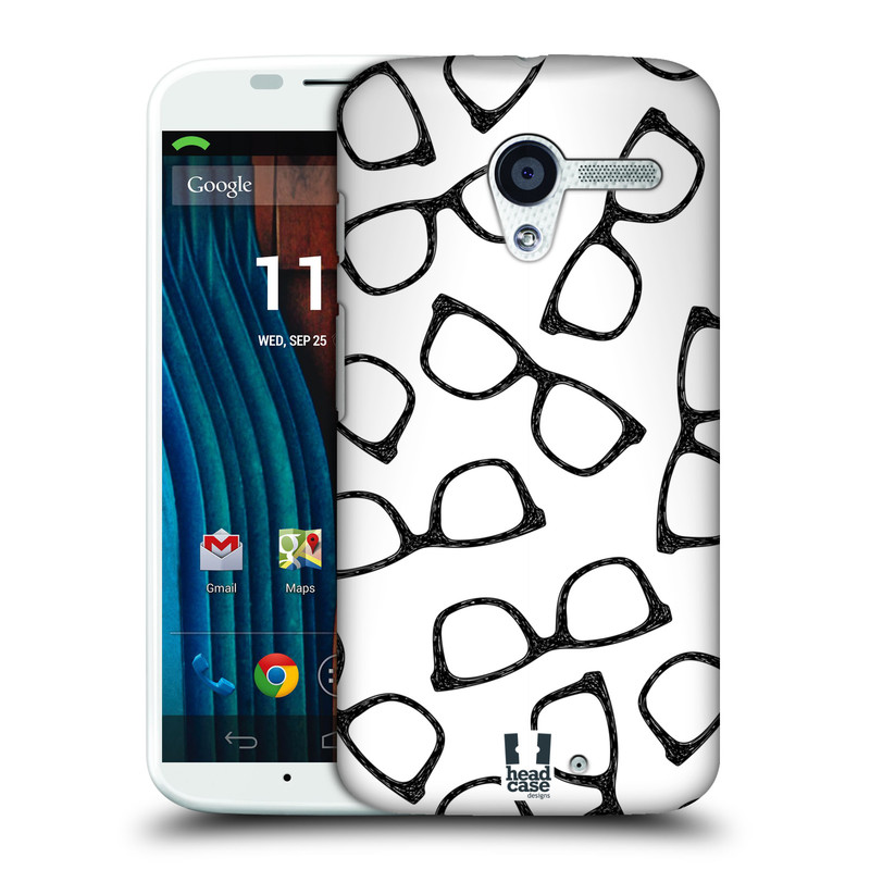 Plastové pouzdro na mobil Motorola Moto X HEAD CASE HIPSTER BRÝLE (Kryt či obal na mobilní telefon Motorola Moto X)