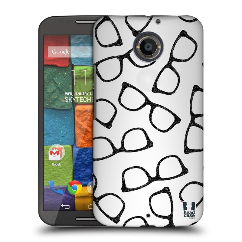 Plastové pouzdro na mobil Motorola Moto X 2ND GENERATION HEAD CASE HIPSTER BRÝLE (Kryt či obal na mobilní telefon Motorola Moto X 2. Generace)