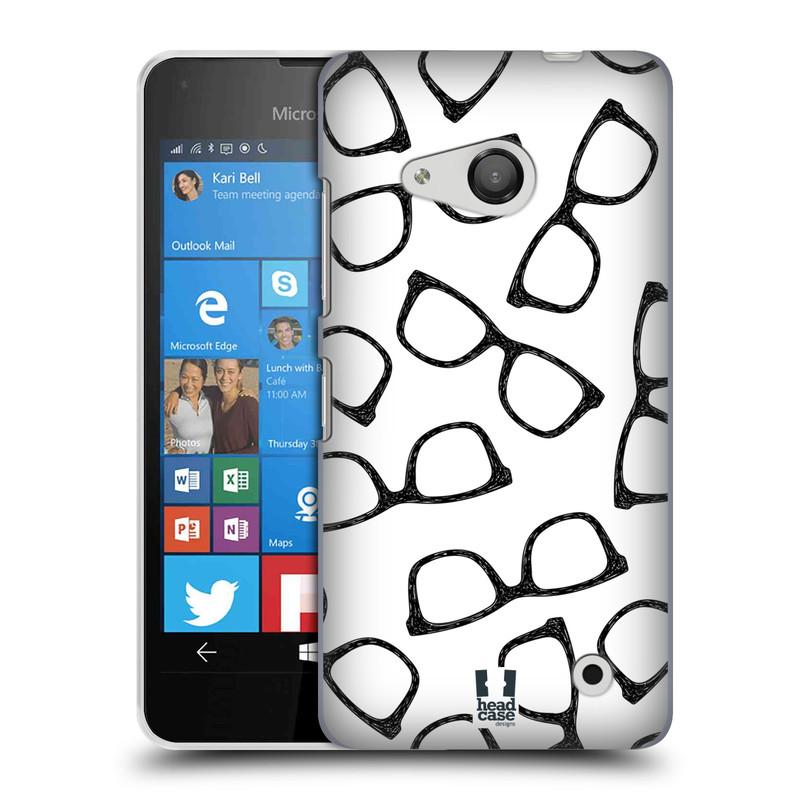 Plastové pouzdro na mobil Microsoft Lumia 550 HEAD CASE HIPSTER BRÝLE (Kryt či obal na mobilní telefon Microsoft Lumia 550)