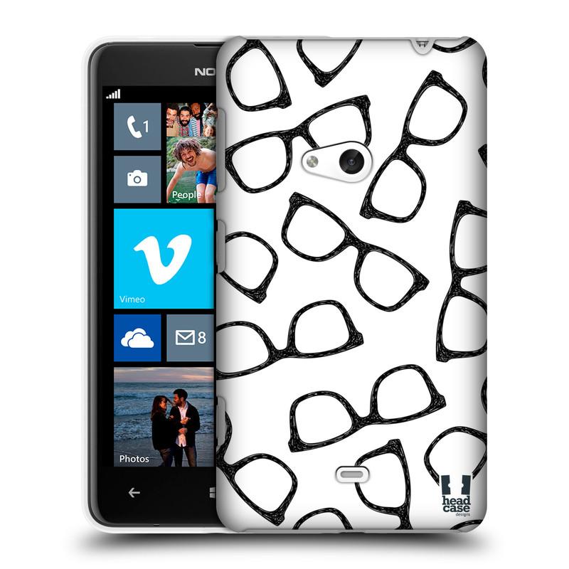 Plastové pouzdro na mobil Nokia Lumia 625 HEAD CASE HIPSTER BRÝLE (Kryt či obal na mobilní telefon Nokia Lumia 625)