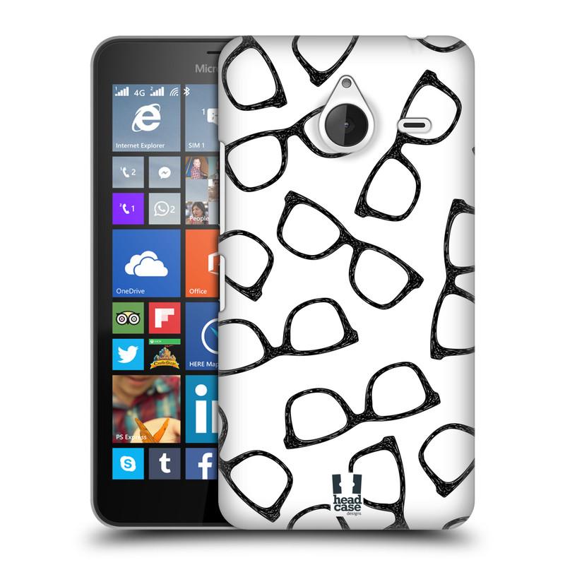 Plastové pouzdro na mobil Microsoft Lumia 640 XL HEAD CASE HIPSTER BRÝLE (Kryt či obal na mobilní telefon Microsoft Lumia 640 XL)