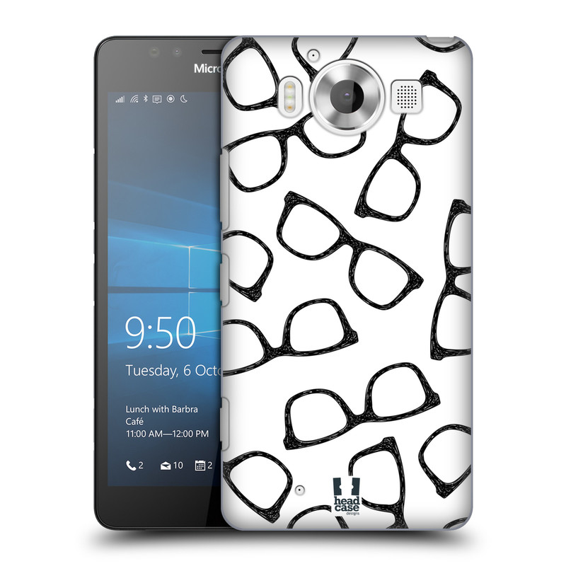 Plastové pouzdro na mobil Microsoft Lumia 950 HEAD CASE HIPSTER BRÝLE (Kryt či obal na mobilní telefon Microsoft Lumia 950)