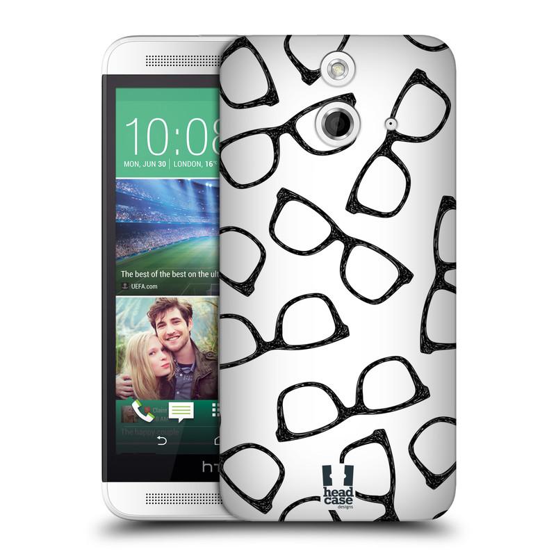 Plastové pouzdro na mobil HTC ONE E8 HEAD CASE HIPSTER BRÝLE (Kryt či obal na mobilní telefon HTC ONE E8)