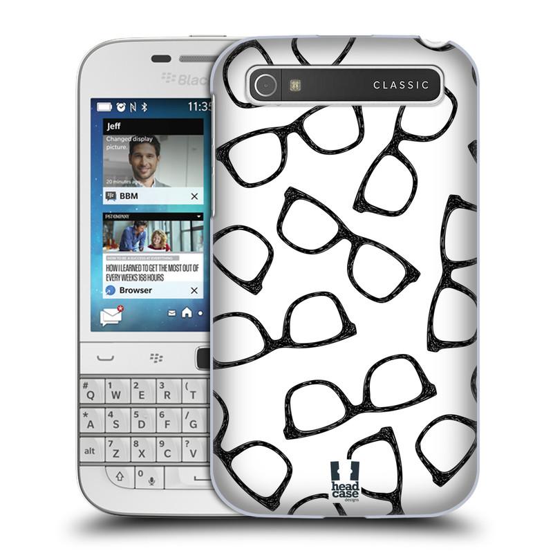 Plastové pouzdro na mobil Blackberry Classic HEAD CASE HIPSTER BRÝLE (Kryt či obal na mobilní telefon Blackberry Classic)