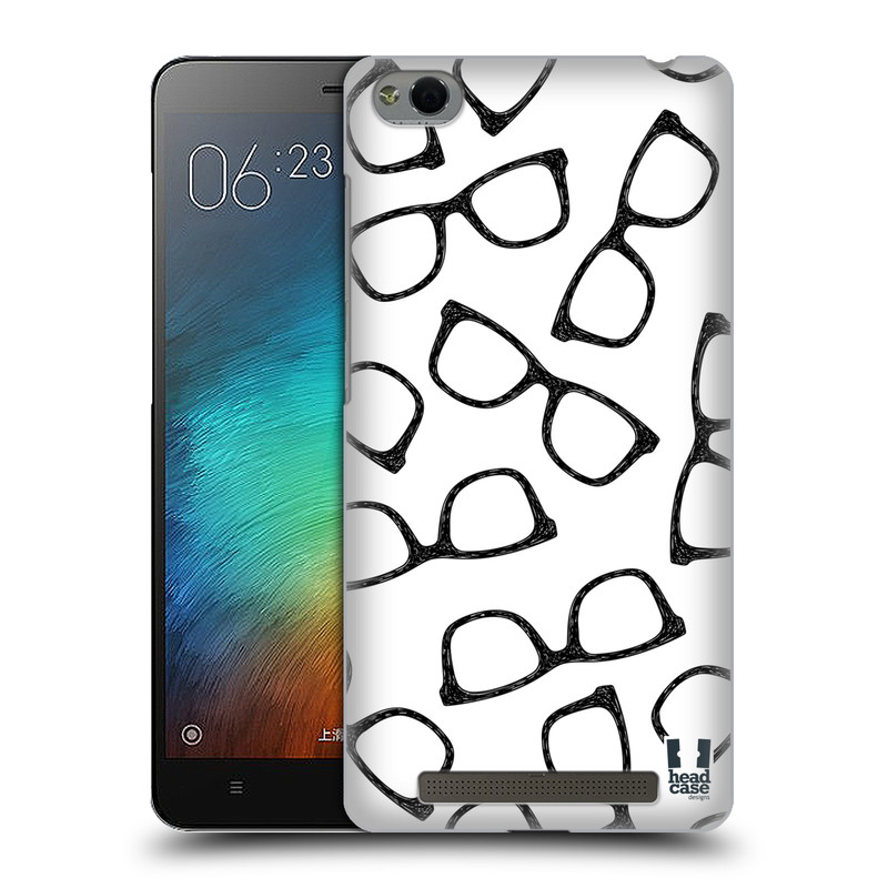 Plastové pouzdro na mobil Xiaomi Redmi 3 HEAD CASE HIPSTER BRÝLE (Kryt či obal na mobilní telefon Xiaomi Redmi 3)
