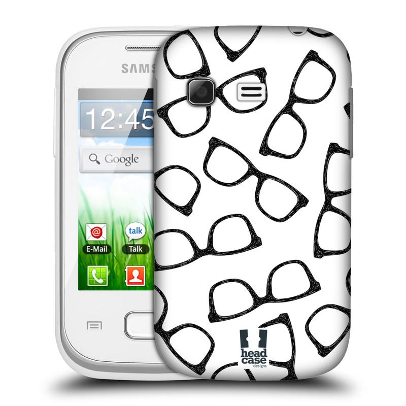 Plastové pouzdro na mobil Samsung Galaxy Pocket HEAD CASE HIPSTER BRÝLE (Kryt či obal na mobilní telefon Samsung Galaxy Pocket GT-S5300)