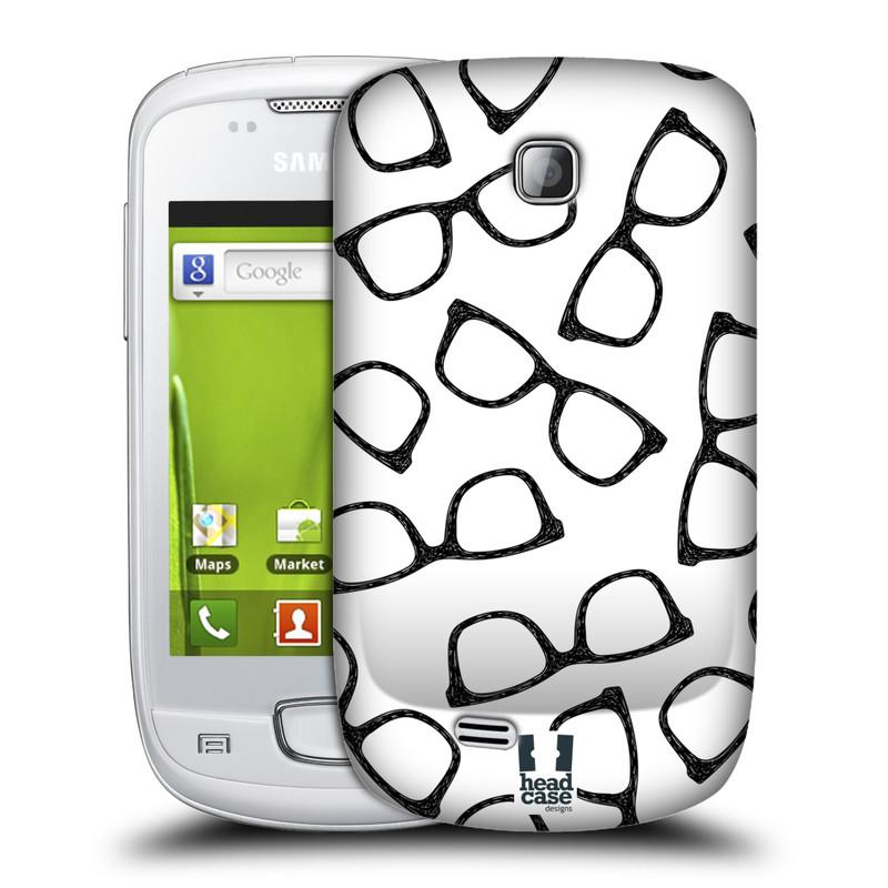 Plastové pouzdro na mobil Samsung Galaxy Mini HEAD CASE HIPSTER BRÝLE (Kryt či obal na mobilní telefon Samsung Galaxy Mini GT-S5570 / GT-S5570i)