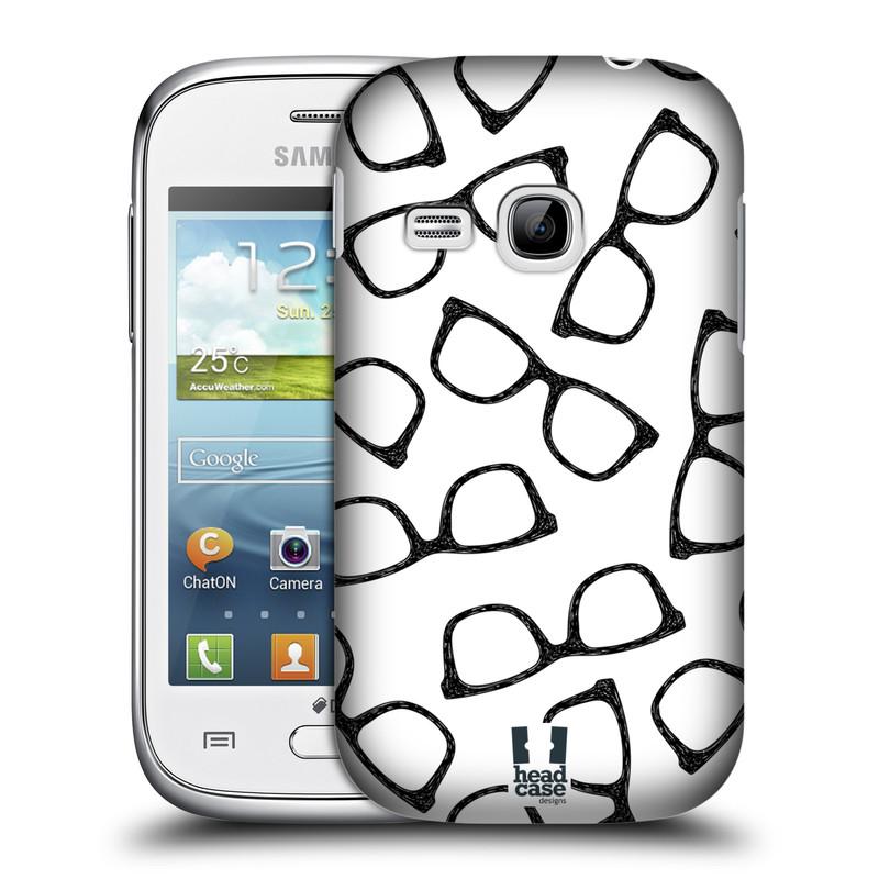Plastové pouzdro na mobil Samsung Galaxy Young HEAD CASE HIPSTER BRÝLE (Kryt či obal na mobilní telefon Samsung Galaxy Young GT-S6310)