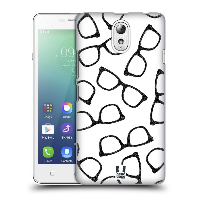 Plastové pouzdro na mobil Lenovo Vibe P1m HEAD CASE HIPSTER BRÝLE (Kryt či obal na mobilní telefon Lenovo Vibe P1m)