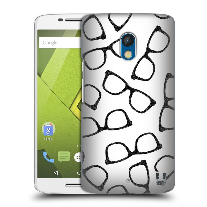 Plastové pouzdro na mobil Motorola Moto X Play HEAD CASE HIPSTER BRÝLE (Kryt či obal na mobilní telefon Motorola Moto X Play XT1562)