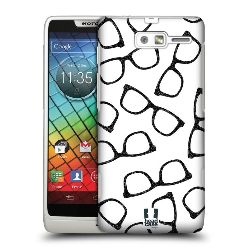 Plastové pouzdro na mobil Motorola Razr i XT890 HEAD CASE HIPSTER BRÝLE (Kryt či obal na mobilní telefon Motorola Razr i XT890)