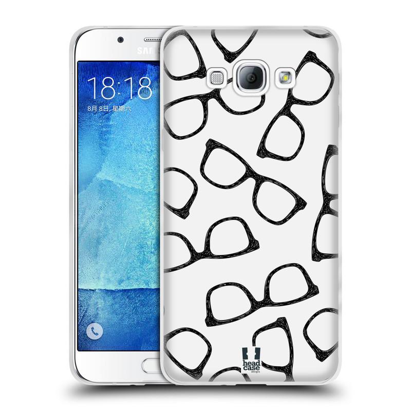 Silikonové pouzdro na mobil Samsung Galaxy A8 HEAD CASE HIPSTER BRÝLE (Silikonový kryt či obal na mobilní telefon Samsung Galaxy A8 SM-A800)
