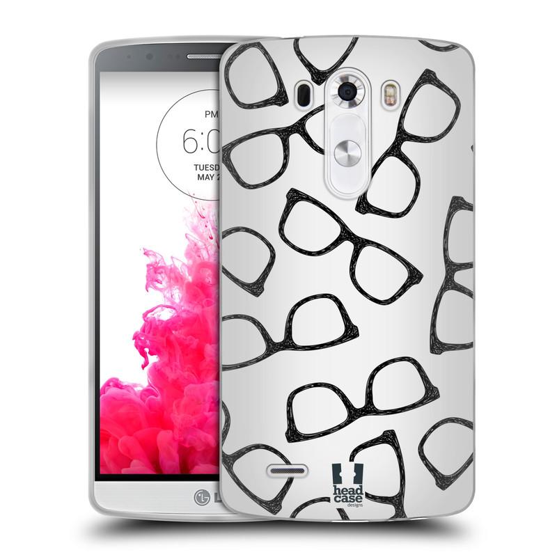 Silikonové pouzdro na mobil LG G3 HEAD CASE HIPSTER BRÝLE (Silikonový kryt či obal na mobilní telefon LG G3 D855)