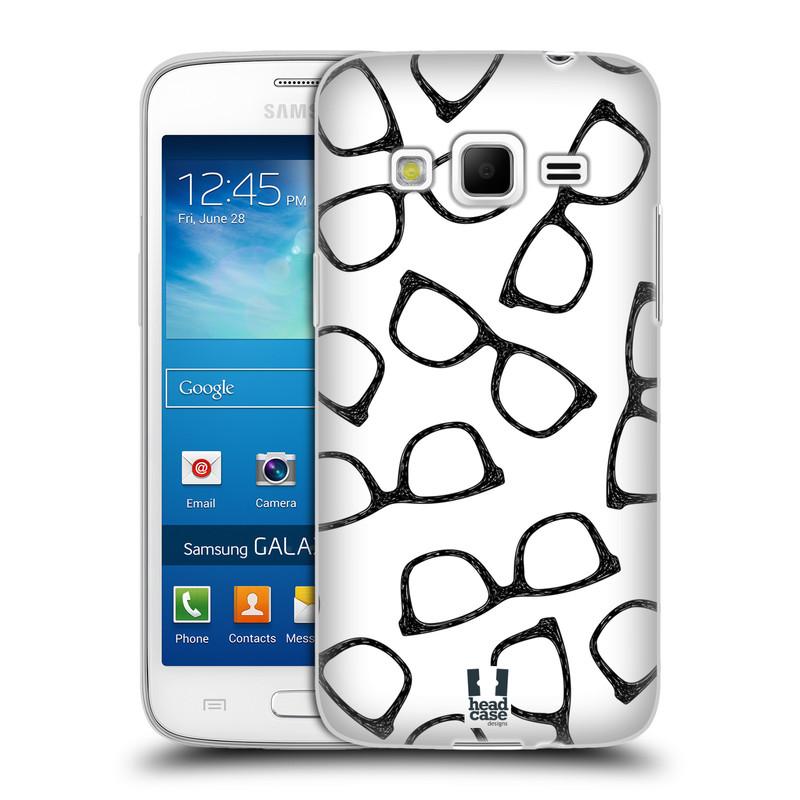 Silikonové pouzdro na mobil Samsung Galaxy Express 2 HEAD CASE HIPSTER BRÝLE (Silikonový kryt či obal na mobilní telefon Samsung Galaxy Express 2 SM-G3815)