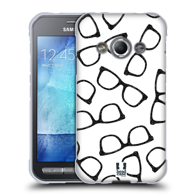Silikonové pouzdro na mobil Samsung Galaxy Xcover 3 HEAD CASE HIPSTER BRÝLE (Silikonový kryt či obal na mobilní telefon Samsung Galaxy Xcover 3 SM-G388F)