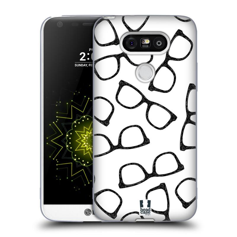 Silikonové pouzdro na mobil LG G5 HEAD CASE HIPSTER BRÝLE (Silikonový kryt či obal na mobilní telefon LG G5 H850)