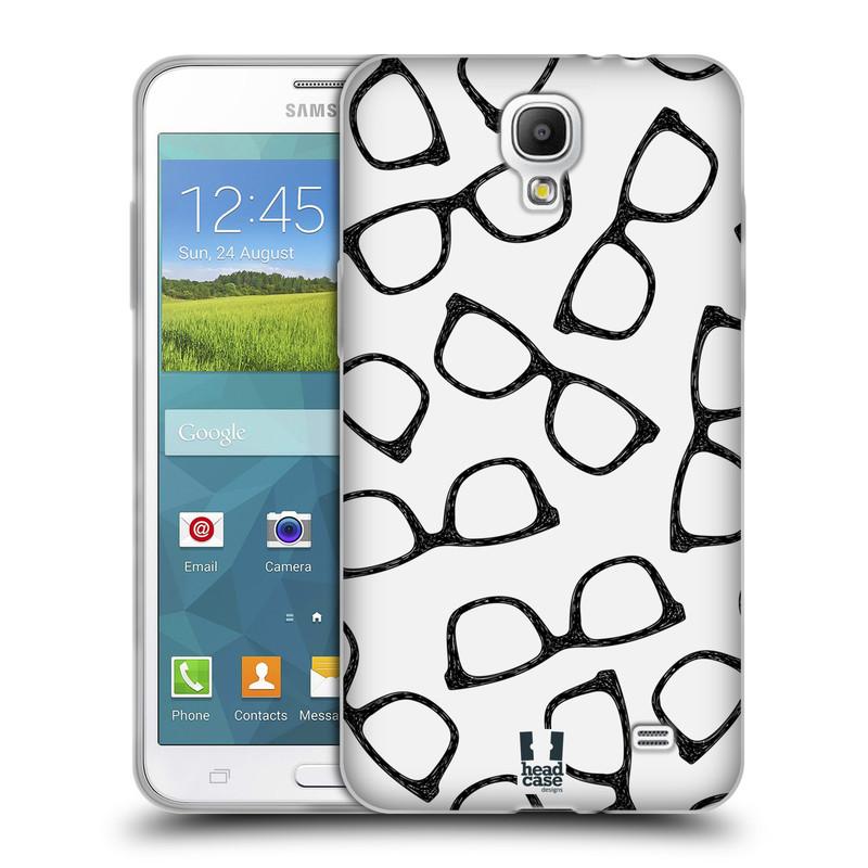 Silikonové pouzdro na mobil Samsung Galaxy Grand Mega 2 HEAD CASE HIPSTER BRÝLE (Silikonový kryt či obal na mobilní telefon Samsung Galaxy Grand Mega 2 SM-G750)