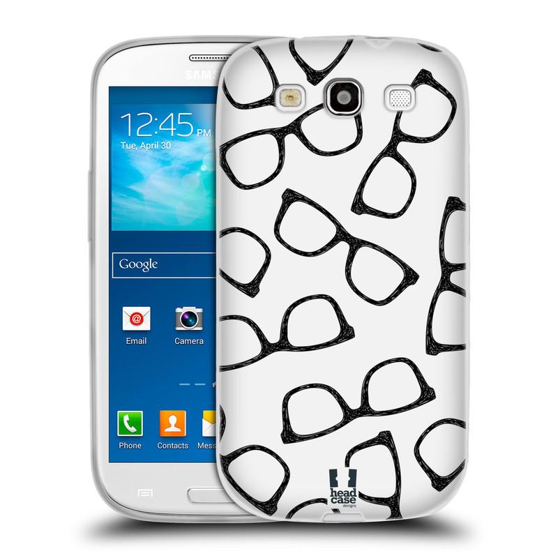 Silikonové pouzdro na mobil Samsung Galaxy S3 Neo HEAD CASE HIPSTER BRÝLE (Silikonový kryt či obal na mobilní telefon Samsung Galaxy S3 Neo GT-i9301i)